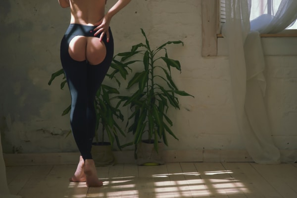 Assless yoga pants