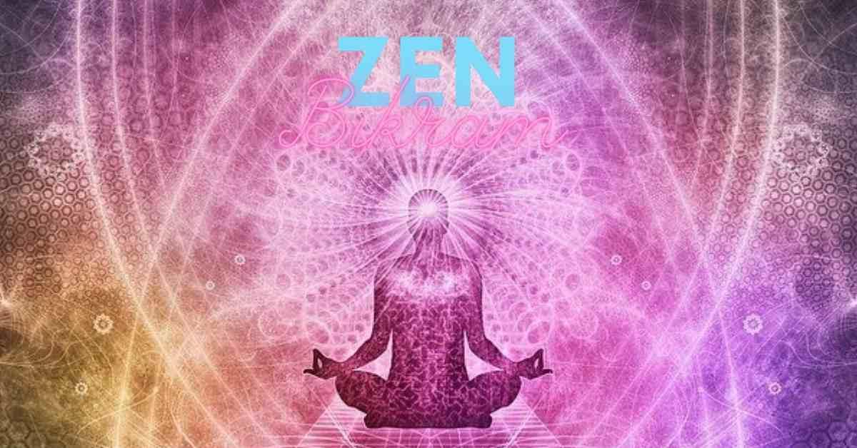 Zen bikram image of an infinite bieng becoming spiritually enlightened.